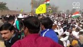 Number Of Farmer Protesters Swell Along Delhi Bord