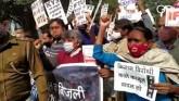 Delhi: Protest At Jantar Mantar In Solidarity With