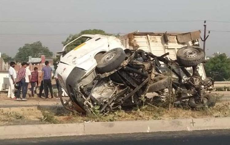 six farmers died in accident in Etawah, uttar prad