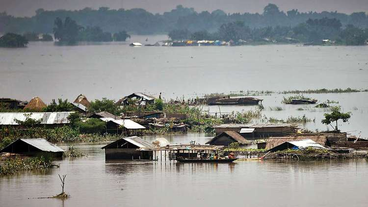 Floods Wreak Havoc in Assam and Bihar, 10 Killed i