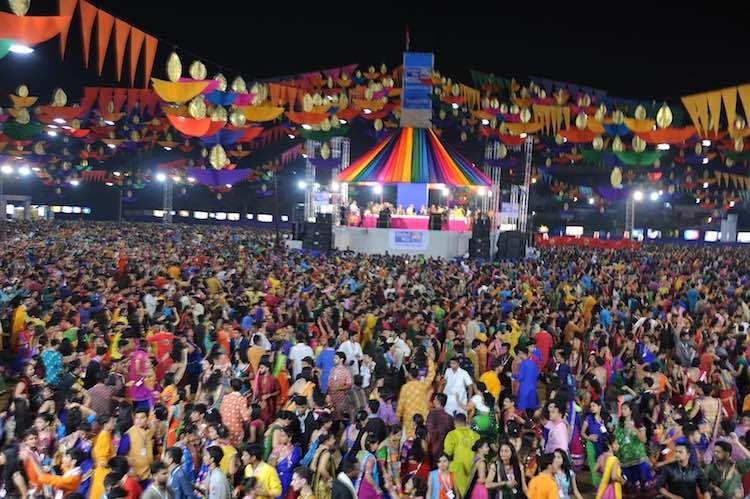 Gujarat swings in the fun of garba