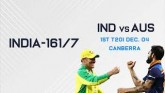 India Post - 161/7  In First T20I against Australi