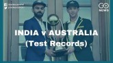 India vs Australia, Head To Head Test Records