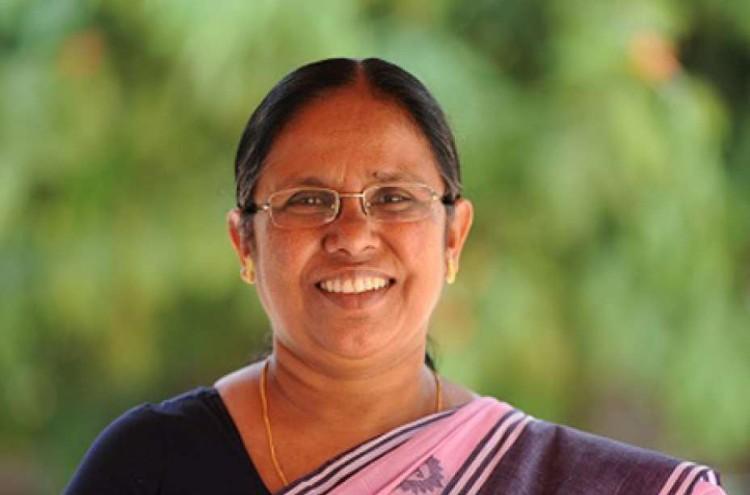 Health minister K.K. Shailaja gave speech at the U