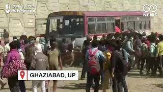 Mayhem As Daily Wagers Board Emergency Buses In UP