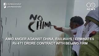Amid Anger Against China, Railways Terminates Rs 4