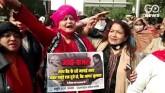 Bharat Bandh: Delhi Mahila Congress Form Human Cha