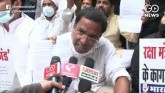 Youth Congress Workers Protest Outside Rajnath Sin