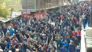 Protest In Kargil Amid Bifurcation Of J&K