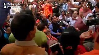 BJP Protest Outside Delhi Jal Board HQ Over Poor W