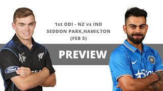 Match Preview - India vs New Zealand, First ODI