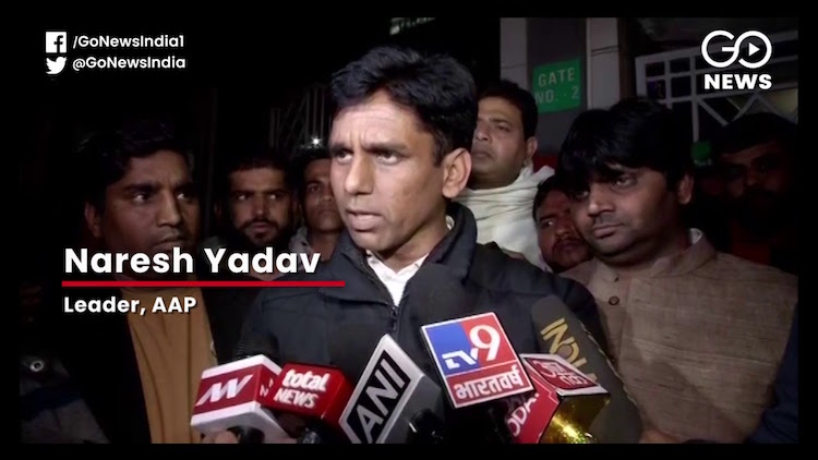 AAP MLA Naresh Yadav's Convoy Attacked