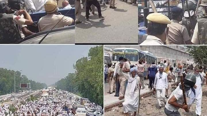 Farmers' March Not Allowed To Enter Delhi, 12 Farmer Leaders Detained In Haryana
