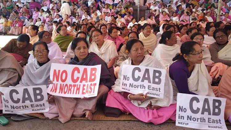 Protestors Rage Against CAB In North-Eastern State