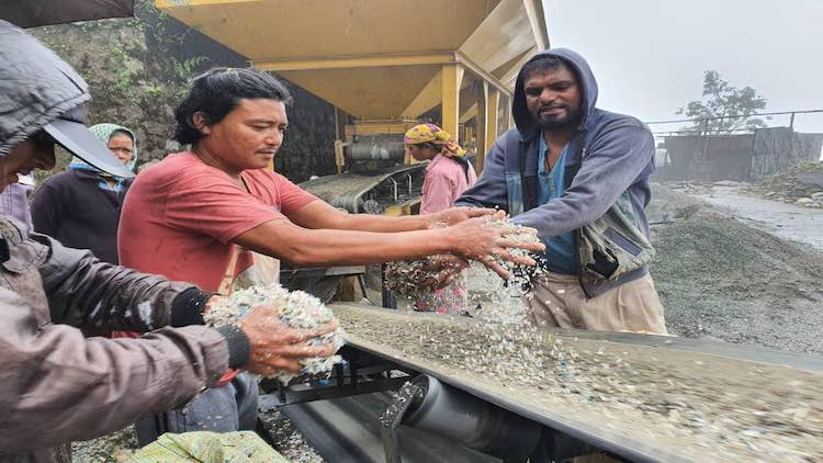 Plastic waste in construction
