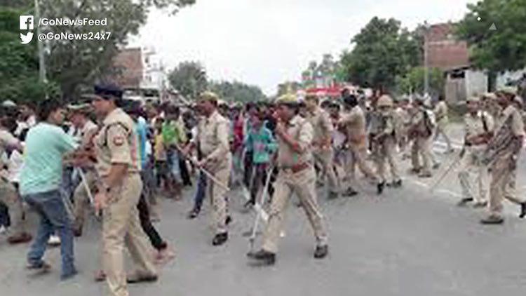 UP Police Baton Charge On Hardoi School Students