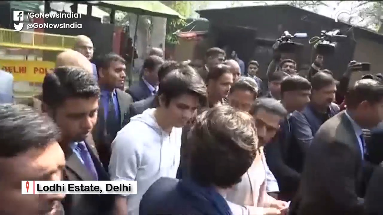 Priyanka Gandhi Comes Out To Vote With Robert Vadr