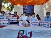 NSUI Workers Stage Satyagraha To Ensure Justice Fo