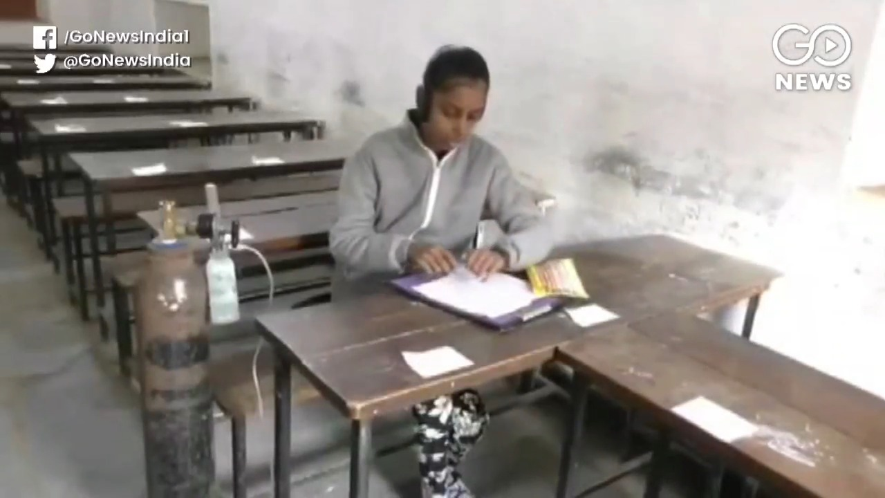 UP Girl On Oxygen Support Writes Board Exams