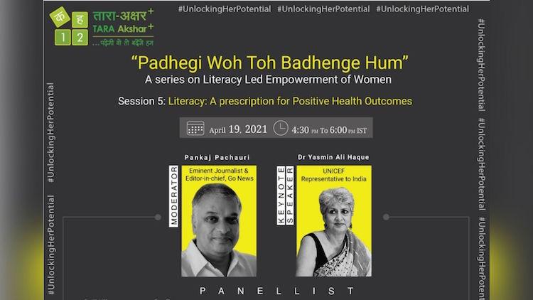 "#UnlockingHerPotential: Live webinar on ""Literacy: A Prescription For Postive Health Outcomes"