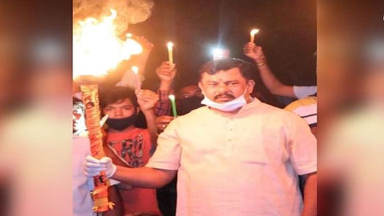 PM's Diya Lighting Call: People Burst Crackers, Ho