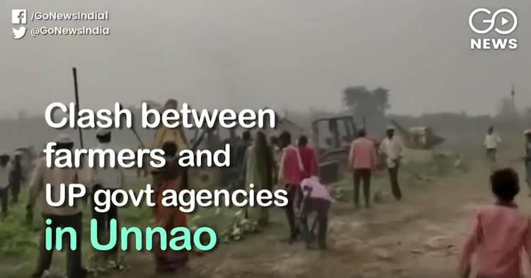 Uttar Pradesh: fight between farmers and governmen