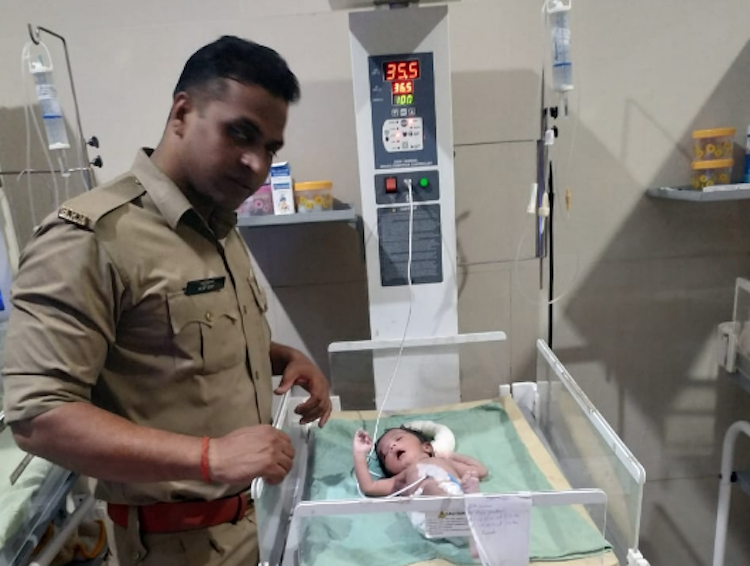 Newborn Girl Rescued From Drain In UP