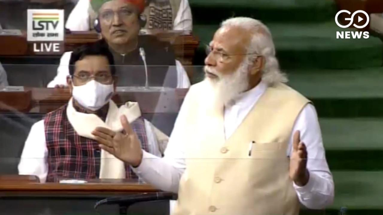 Uproar In Lok Sabha As PM Modi Speaks On Farm Laws