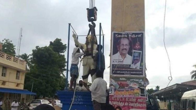 Ambedkar Statue Vandalised In Tamil Nadu