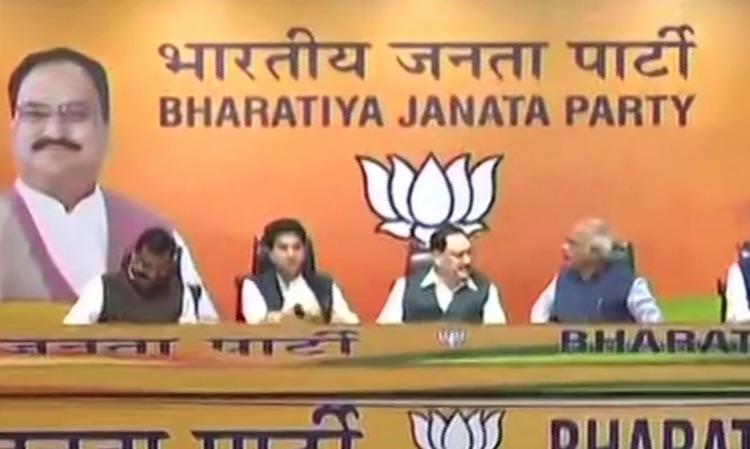 Jyotiraditya Scindia joins BJP